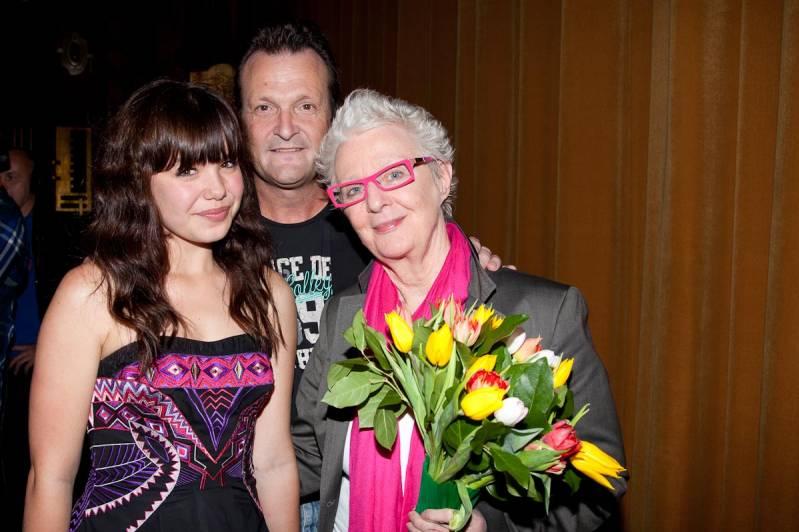 Abby Hoes, regisseur Dave Scharm en Carry Slee (c) Arjo Frank/Biosagenda