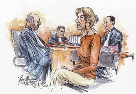 Rechtbanktekening van Lucia de Berk