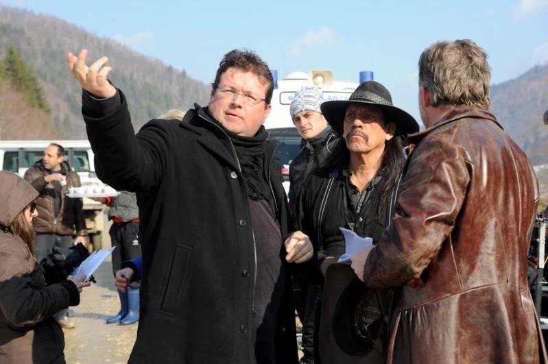 Roel Reine met Danny Trejo op de set (c) Roelreine.com