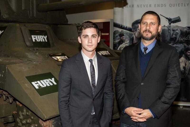 Logan Lerman en David Ayer in Fury (c) Arjo Frank