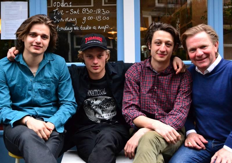 Chris Peters, Jonas Smulders, Minne Koole en Michiel van Erp, (c) Maarten De Groot