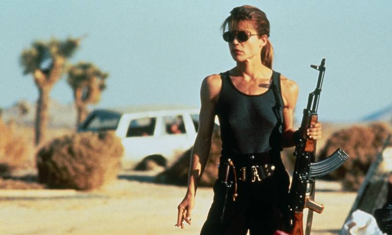 Linda Hamilton als Sarah Connor in Terminator 2 (1991)