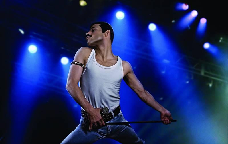 Rami Malek in de rol van Freddie Mercury.