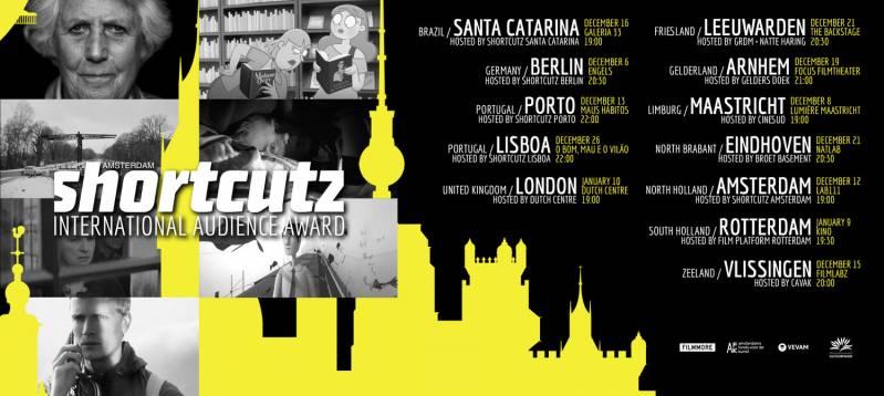 De affiche van de International Audience Award van Shortcutz.