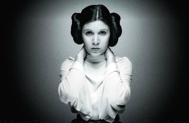 Carrie Fisher, die beroemd werd als Prinses Leia.