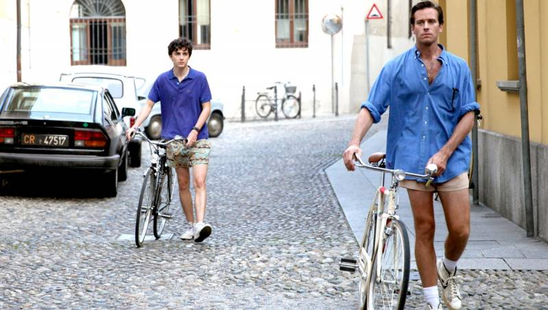 Still uit Call me by your Name: Timothée Chalamet, Armie Hammer © 2017 Universal Pictures International