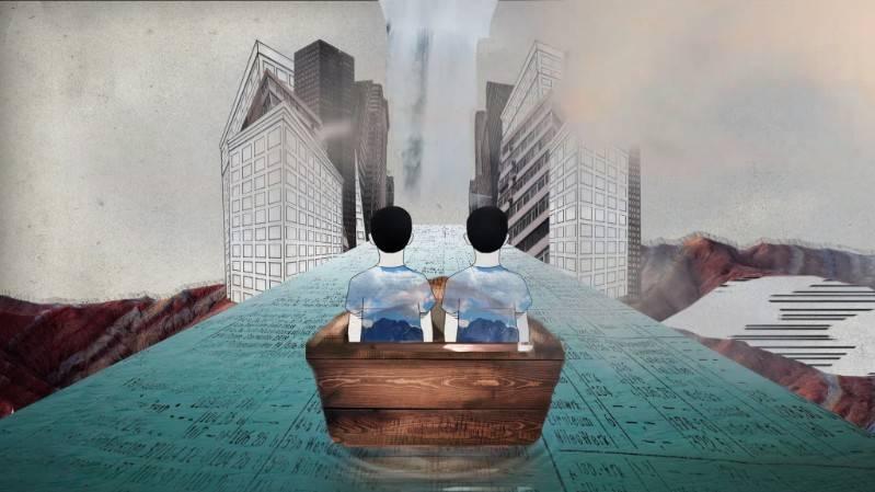 Animatie uit de documentaire 'Onderkomen'.