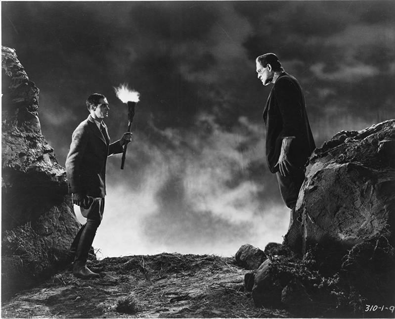 Boris Karloff en Colin Clive in Frankenstein (1931).