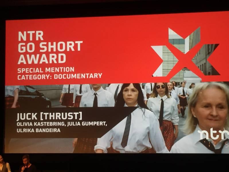 De korte film JUCK (THRUST) van Olivia Kastebring, Julia Gumpert en Ulrika Bandeira krijgt speciale vermelding van twee jury's © 2018 BiosAgenda.nl