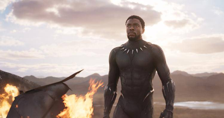Chaswick Boseman in 'Black Panther'.