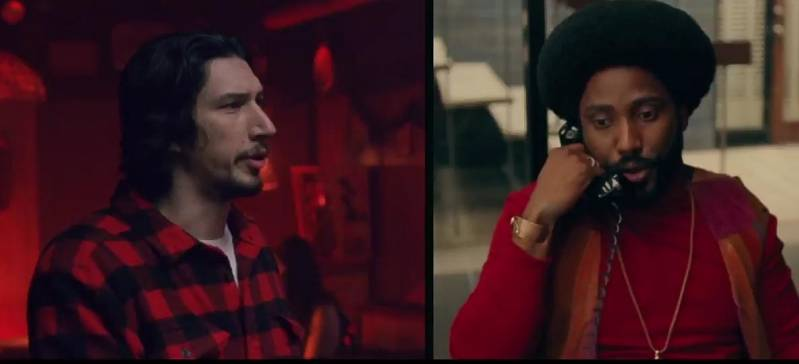 Adam Driver en John David Washington in BlacKkKlansman (c) 2018