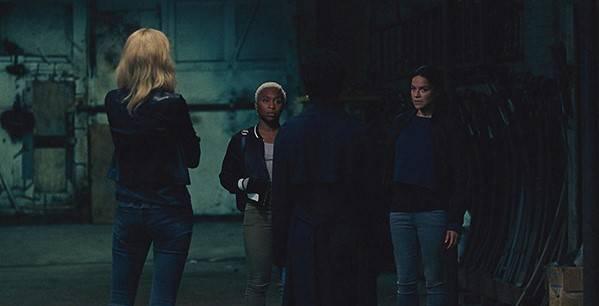 Elizabeth Debicki, Cynthia Erivo, Viola Davis en Michelle Rodriguez in 'Widows' (c) 2018 Twentieth Century Fox Film Corporation.