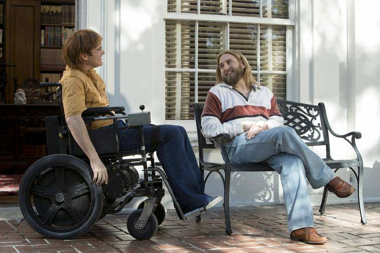 Joaquin Phoenix en Jonah Hill in 'Don't Worry, He Won't Get Far on Foot' (c) 2018.