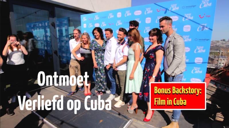 De acteurs en de regisseur tijdens de castpresentatie van de film Verliefd op Cuba (c) 2018 BiosAgenda.nl