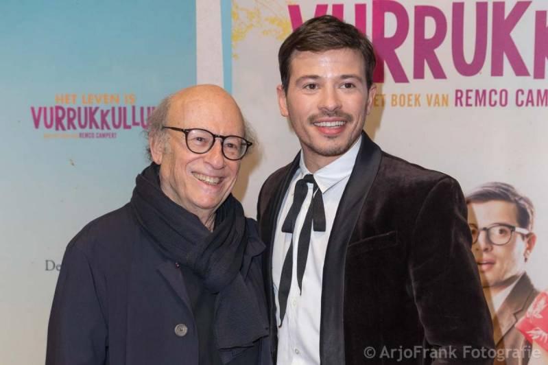 Frans Weisz met zoon Geza Weisz op de rode loper van 'Het Leven is Vurrukkulluk' (c) Arjo Frank 2018