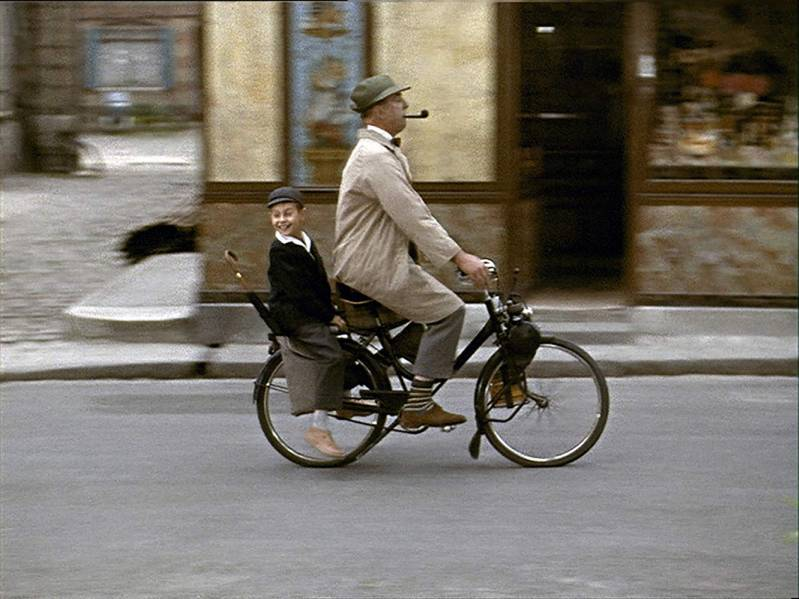 Alain Bécourt en Jacques Tati in Mon oncle (1958)