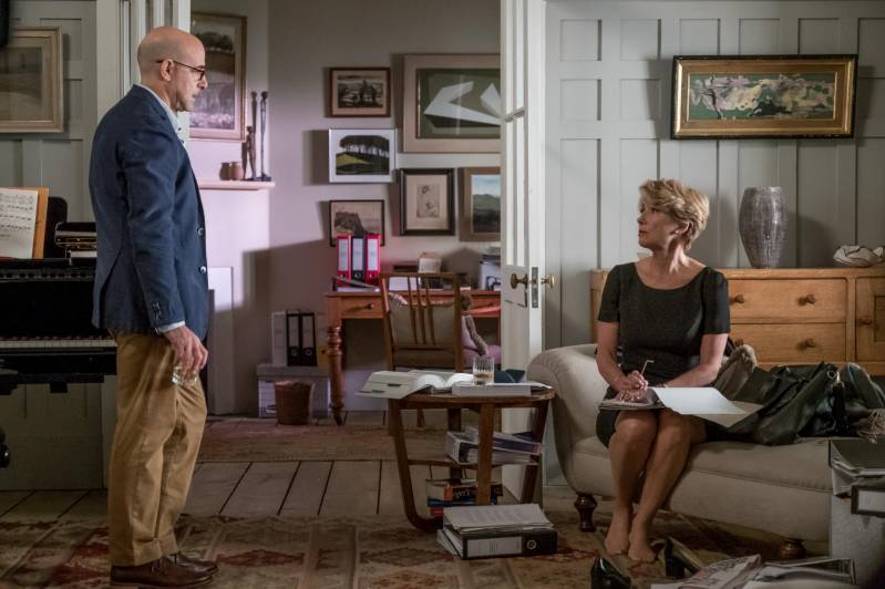 Stanley Tucci en Emma Thompson in The Children Act © 2018 CinèArt