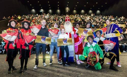 Sinterklaas: coproducent Michael van Beers, regisseur Armando de Boer en hoofdrolspeler Yenthe Bos. © 2018 Grasshopperstudios / Joke Schut