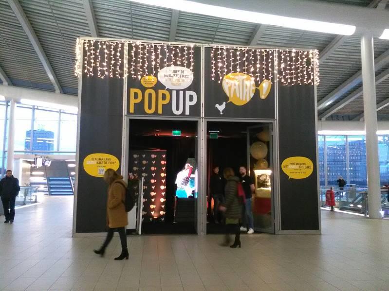De pop-up winkel van bioscoopketen Pathé op Utrecht Centraal (C) Biosagenda