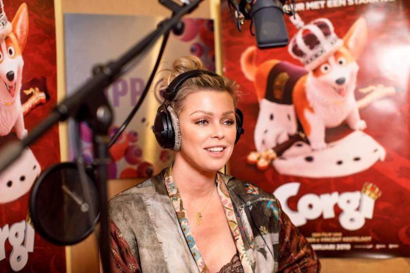 Presentatrice Bridget Maasland doet de stem van de hond Wanda in de nieuwe animatiefilm Corgi. (C) Samuel van Leeuwen