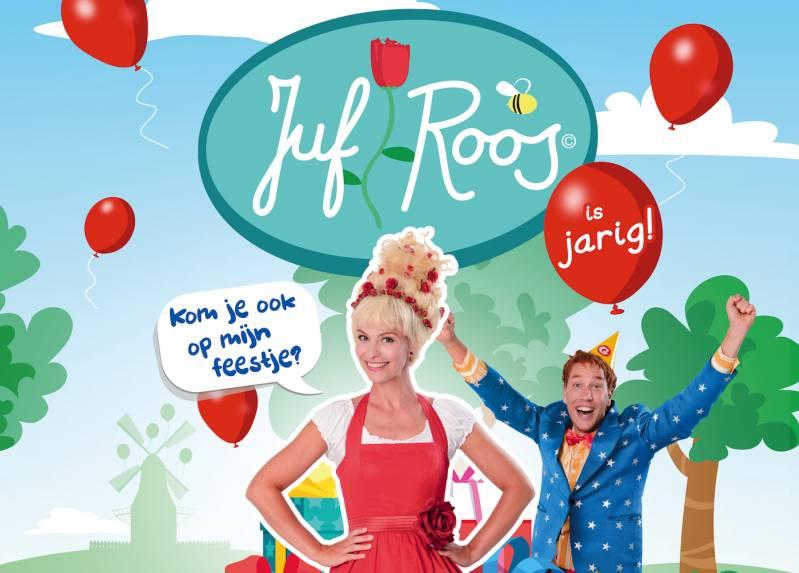 Juf Roos (Melissa Drost) en Gijs (Jörgen Scholtens) op de poster van JUF ROOS IS JARIG © 2019  Just Film Distribution