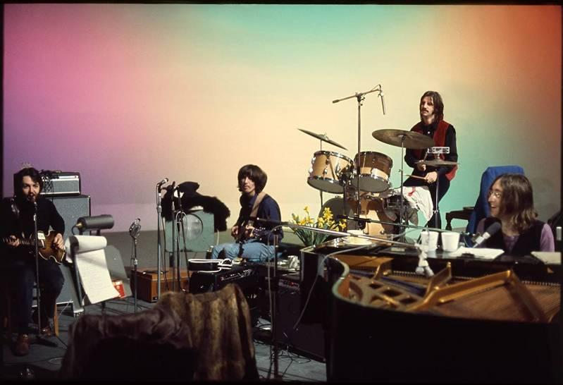 Paul McCartney, George Harrison, Ringo Star en John Lennon als The Beatles ©1969 Foto: Linda McCartney | Paul McCartney
