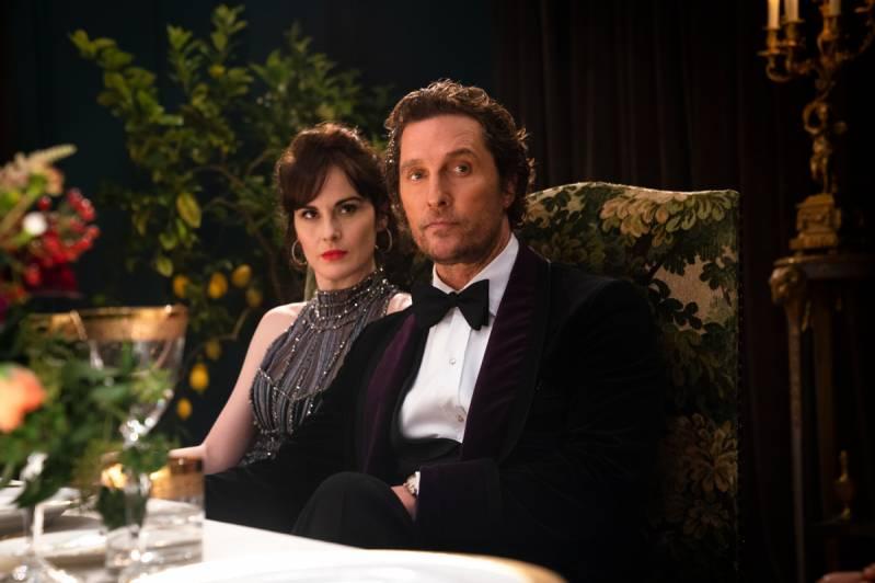Michelle Dockery (Rosalind Pearson) en Matthew McConaughey (Mickey Pearson) in The Gentlemen © 2020 Independent Films