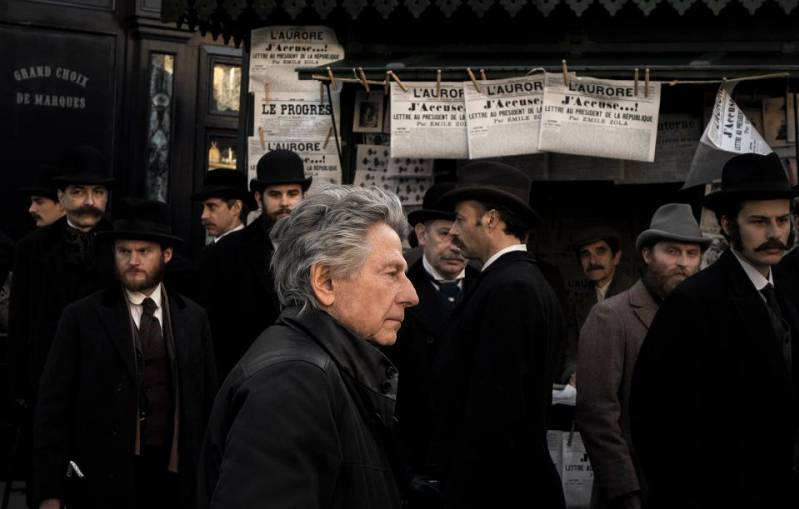 Roman Polanski op de set van J'Accuse © 2019