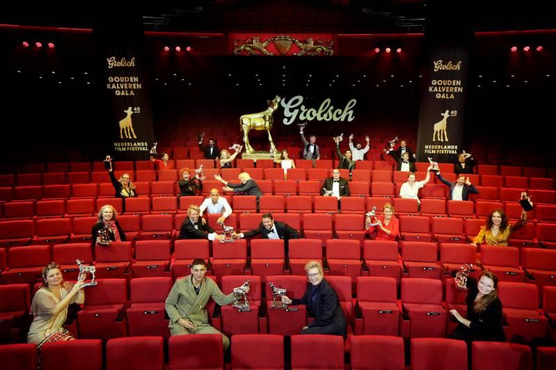 20201002 - Utrecht - Winnaars Grolsch Gouden Kalveren Gala tijdens Het Nederlands Film Festival 2020. FOTO: RAMON MANGOLD/ NFF