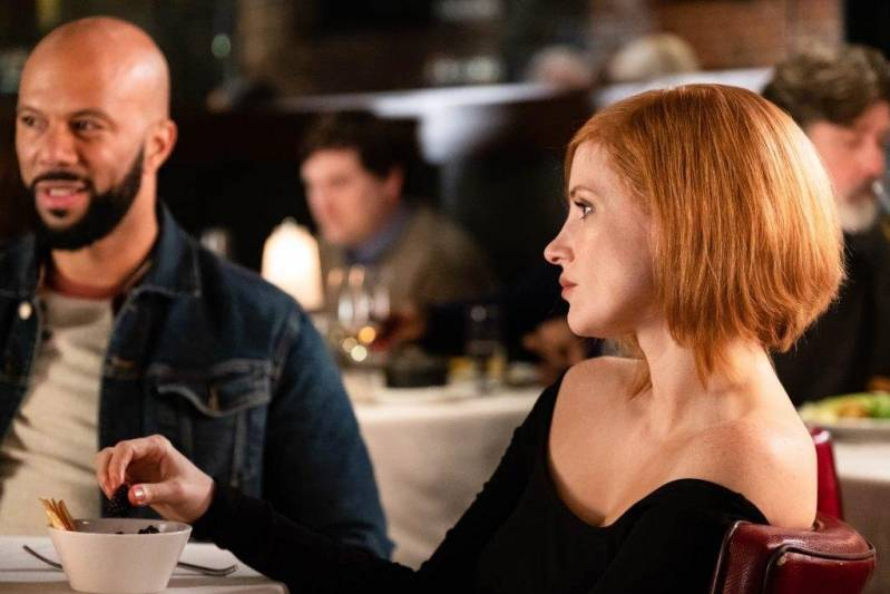 Common and Jessica Chastain in Ava (2020)