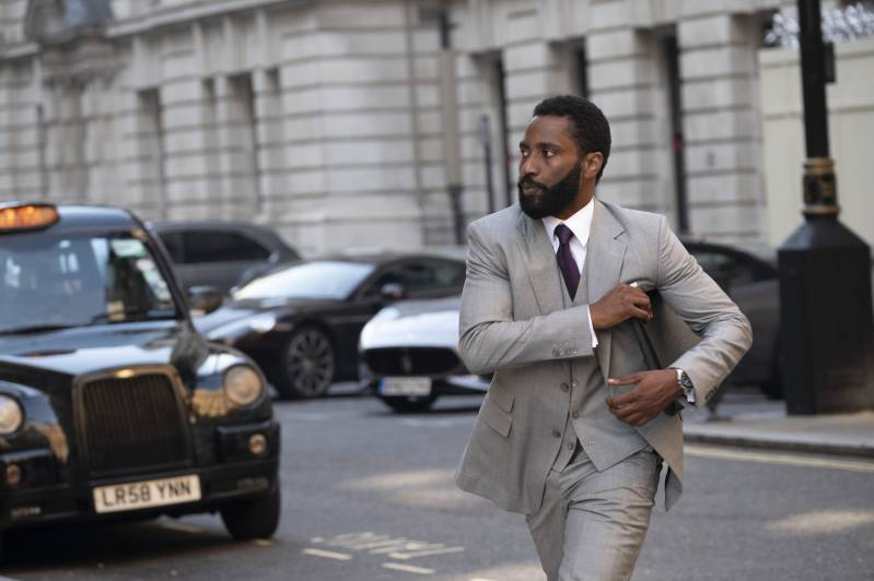 John David Washington in de actiefilm TENET© 2020  Fotografie: Melinda Sue Gordon | Warner Bros. Entertainment Inc. All Rights Reserved.
