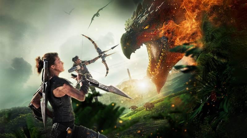 Milla Jovovich en Tony Jaa in Monster Hunter