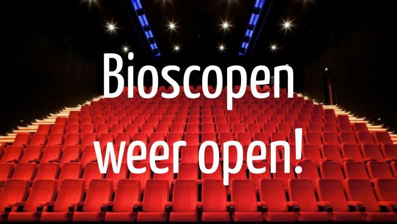 Bioscopen weer open per 5 juni