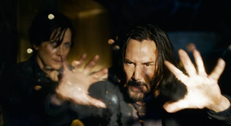 Carrie-Anne Moss en Keanu Reeves in de trailer van The Matrix Resurrections