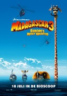 Madagascar 3: Europe's Most Wanted 3D poster
